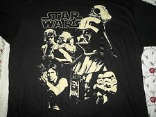 StarWars LAST JEDI Men's2XLBlackT-shirt Han Solo Luke Skywalker Darth Vader Yoda
