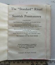 1927 Masonic The Standard Ritual of Scottish Freemasonry Antique Masons Book