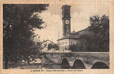 Cartolina - Postcard - San Zenone Po - Chiesa - Ponte - 1941