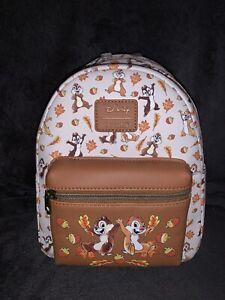 Disney Loungefly Chip 'N Dale Fall Mini Backpack
