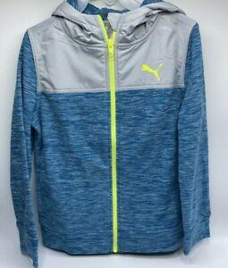 Boy's Size S(7/8) Very Nice Puma Youth Fleece Zip-Up Hoodie Sweatshirt Jacket