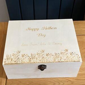 Personalised Mothers Day Gift Box Wooden Box Memory Box Birthday Box