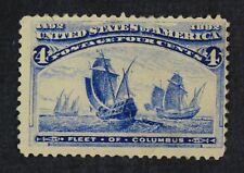 CKStamps: US Stamps Collection Scott#233 4c Columbian Unused Regum Over Thin