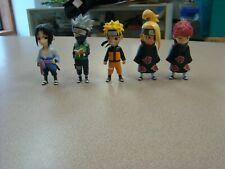 """Naruto Shippuden Mininja: 4"""" KAKASHI, NARUTO, SASUK,DEIDRA, SASORI FIGURINES"""