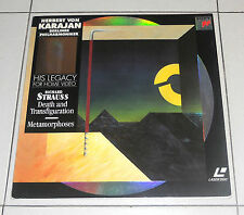 Laser Disc RICHARD STRAUSS Death and Transfiguration HERBERT VON KARAJAN LD dvd