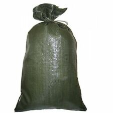 SANDBAGS LOT OF 1000 HEAVY DUTY 14 X 26 GREEN SAND BAGS ROUGHLY HOLDS  50# BAG