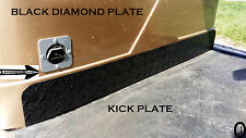 yamaha G1 Golf Cart Black Rubber Coated Aluminum Diamond Plate Kick Panel