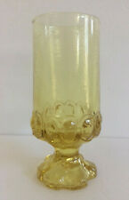 FRANCISCAN MADIERA Glass Goblet Water Ice Tea Clear Yellow Cornsilk Footed Vtg