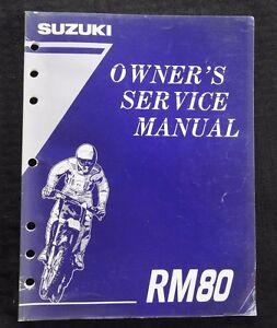 GENUINE 1995 1996 SUZUKI 80 RM80 MOTORCYCLE OWNER'S SERVICE MANUAL GOOD SHAPE