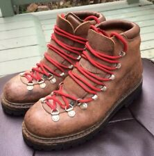Vtg Brown CALZATURIFICIO THE ALPS BY FABIANO Backpacking Trail Hiking Boots WM 8