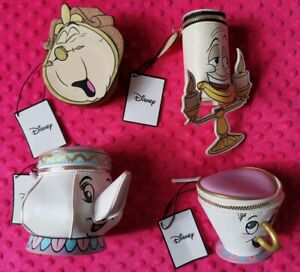 Disney Beauty and the Beast Mrs Potts Chip Cup Lumiere Cogsworth coin purse BNWT