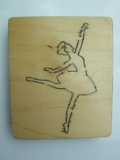 "Ballerina dancing wooden die (1"" / 2.5cm thick) - H00257"