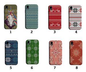 Christmas Jumper Pattern Phone Case Cover Vintage Retro Mens Womens Xmas 8189 J