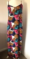 Next Strappy Maxi Dress Multicoloured Floral Print Size 12 Summer Beach Holiday