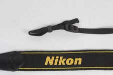 #7 Camera neck shoulder strap for Nikon Black with Yellow