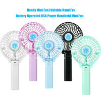 KQ_ Mini Portable Foldable Handheld USB Cooling Fan Home Desktop Air Cooler