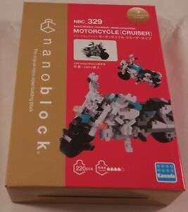 Kawada nanoblock MOTORCYCLE CRUISER - japan building toy block  NEW NBC_329
