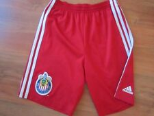 Garçons Rare Red Deportivo CHIVAS USA FOOTBALL SHORT CHEMISE (age11-12) * Grand Cond *