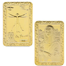 Da Vinci Mona Lisa Golden Commemorative Coins Collection Souvenir Art Bar Free