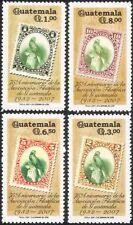 Guatemala 2000 Stamp-on-Stamp/Birds/Postal History/Philately 4v set (n45694)