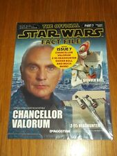 STAR WARS OFFICIAL FACT FILE PART 7 UK MAGAZINE CHANCELLOR VALORUM SIONVER BOLL