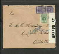 PERU 1918 CENSOR COVER TO USA (SPINGFIELD,MASS) TRUJILLO CANCEL, NICE