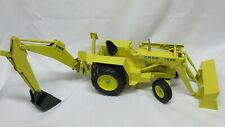 "VTG RARE MINTY 1975 LARGE 1/12 36"" ERTL FORD 7500 BACKHOE TRACTOR NEAR MINT"