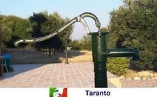 Pompa a mano pozzo decorativa ghisa fontana con leva colonna acqua manuale