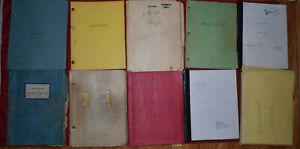 12) Vintage & Recent Play Scripts Los Angeles Rare Collectible 1950s