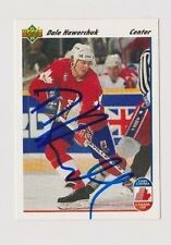 91/92 Upper Deck Dale Hawerchuk Team Canada Autographed Hockey Card