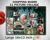 Personalised Custom FAMILY TREE Glass Chopping Cutting Board Own Photo Picture