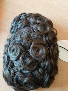 Camelia Rose Loose Curl Irish Dancing Dark Brown Bun Wig