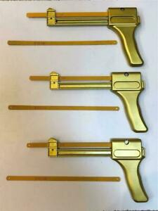 """3x or 5x Quick Pistol Grip Hacksaw Hack Saw with 18T 12"""" Blades Spring Loaded"""