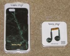 Happy Plugs Unik Set of iPhone 6 Slim Case & Headset -Jade Green Marble