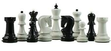 "Zagreb Series Premium 3.75"" Staunton Chessmen in Black and White Lacquered"