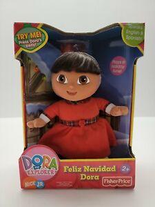 Dora Explorer Feliz Navidad Dora Christmas Doll TALKING electronic Feliz Navidad