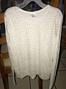 NWOT HANNA ANDERSSON GIRLS CREAM TOP WITH GOLD POLKA DOTS SIZE 150/ 12
