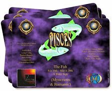 Pisces Star Sign Birthday Gift Picture Placemats in Gift Box, ZOD-12P