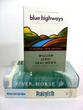 Lot of 3 William Least Heat-Moon Blue Highways PrairyErth River-Horse Travel