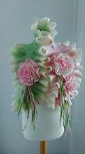 Infeltriti a mano 100% LANA FATTO A MANO Felted Sciarpa. Lana gioielli. Matrimonio Blossom - 2. le rose.