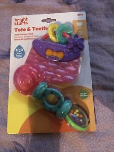 Bright Starts Tote & Teethe Rattle Teether 2 Pack