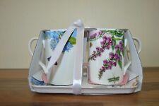 Portmeirion (Pimpernel) Botanic Garden Terrace - 2 Mug and Tray Set