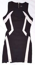 EX CON Bardot Size 8 Dress Black White Pencil Office Chic Mini Fitted Sleeveless