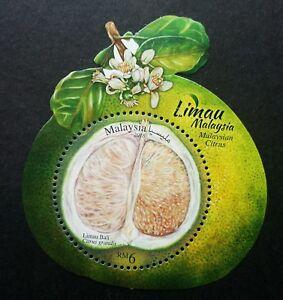 *FREE SHIP Malaysia Citrus 2018 Fruits Pomelo (ms MNH *odd shape *gloss *unusual