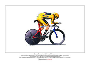 Geraint Thomas - TT - Tour de France 2018 - Ltd Edition Fine Art Print A3