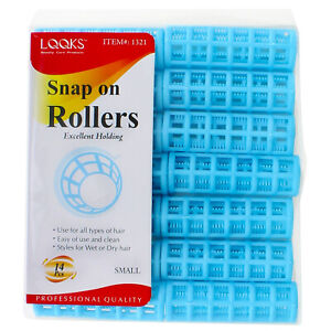 Snap On Hair Rollers Curler Wave Set Large Jumbo Medium Small Size Salon Quality