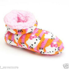 HELLO KITTY GIRLS berber fleece BOOTIES SLIPPERS  Sz S/M SHOES SIZE 8-13 NWT