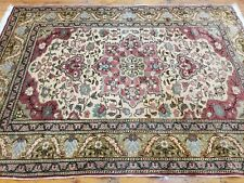 Exquisite Vintage Natural Dye Wool Pile Legendary Hereke Rug 4'x5'8' 39;