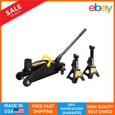 2 Ton Professional Hydraulic Floor Jack Car 2 Heavy Duty Jack Stand Portable New