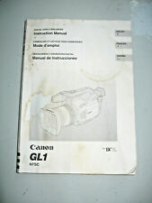 Canon GL1 Camcorder Instruction Manual #J50599